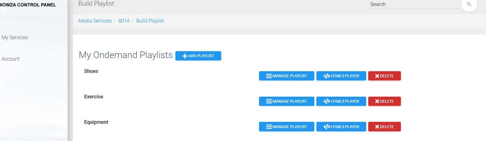 create playlists